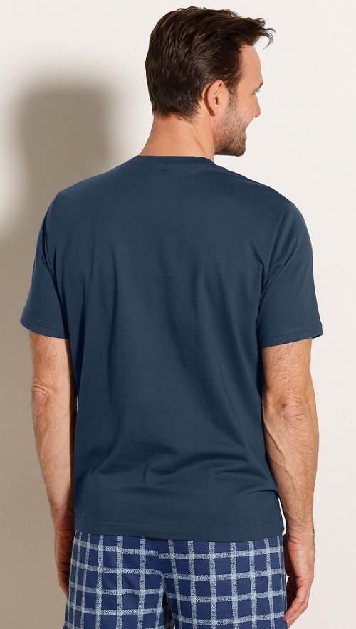 Tmavě modré pánské pyžamové tričko
