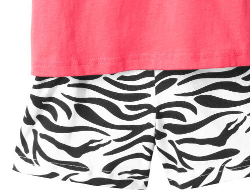 Zebrované pyžamové šortky