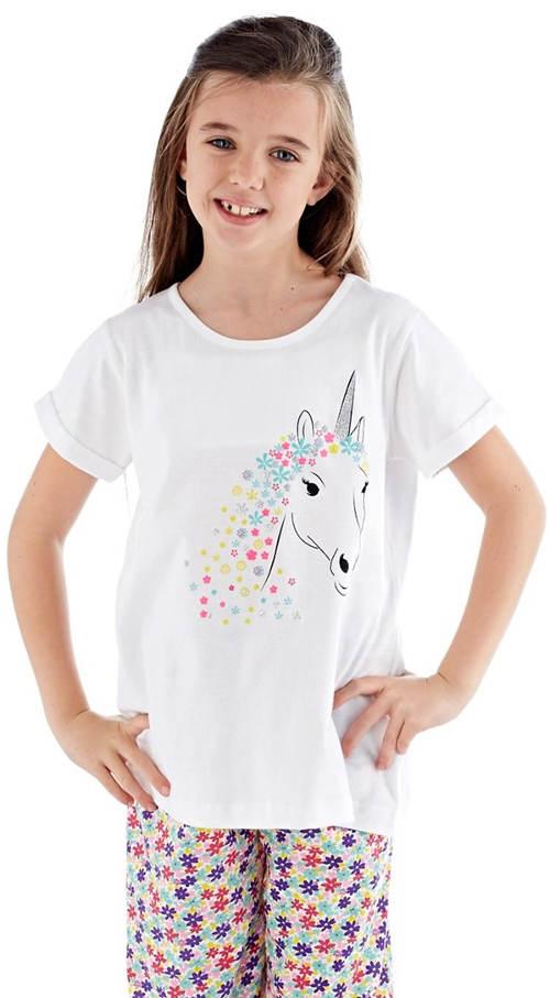 Bavlněné holčičí pyžamo s jednorožcem