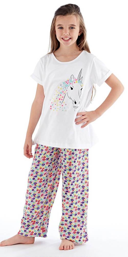 Dívčí bavlněné pyžamo s koníkem