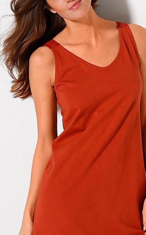 Terakotová dámská noční košile Blancheporte výprodej