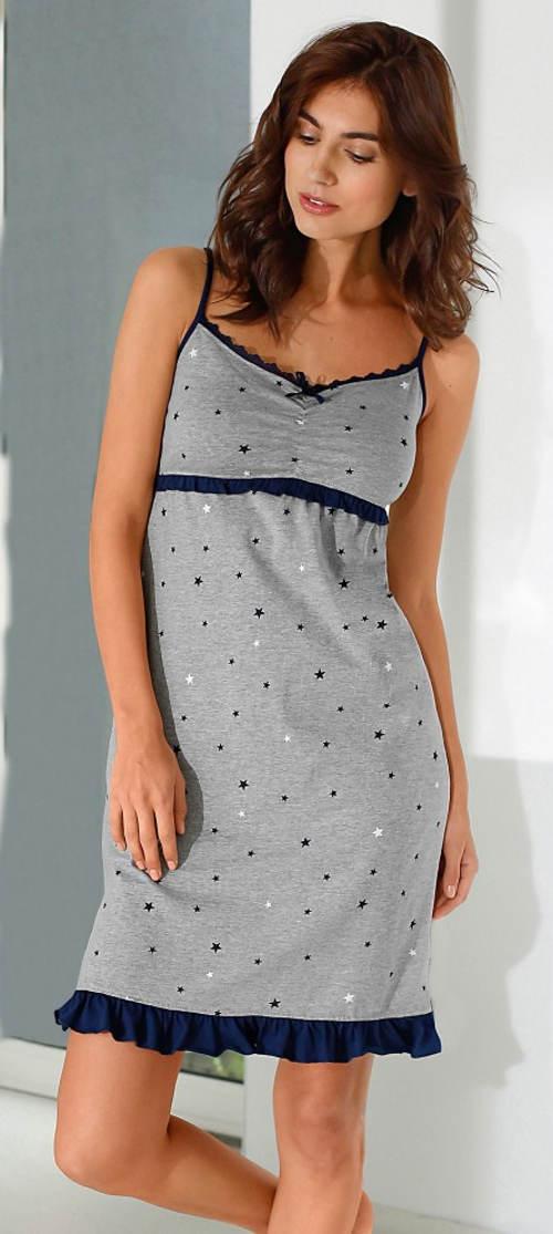 Zlevněná noční košilka s potiskem hvězd