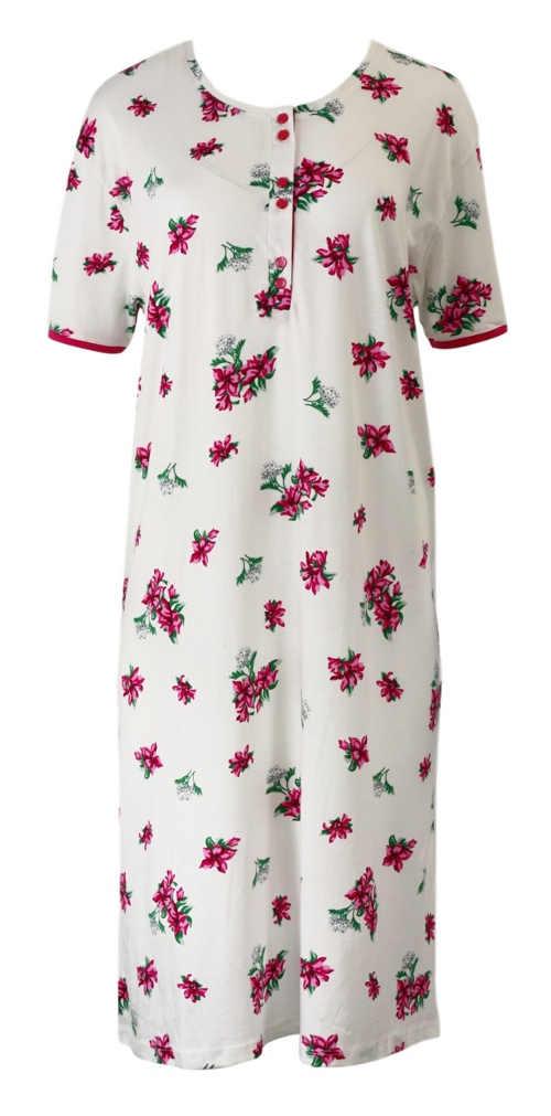 Klasická dámská noční košile z bavlny a modalu