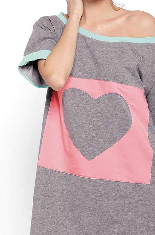 Vzdušná volná dámská košilka na spaní