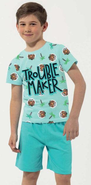 Krátké dětské pyžamo Trouble Maker