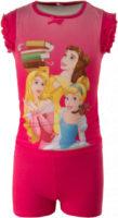 Krátké růžové dívčí pyžamo princezny
