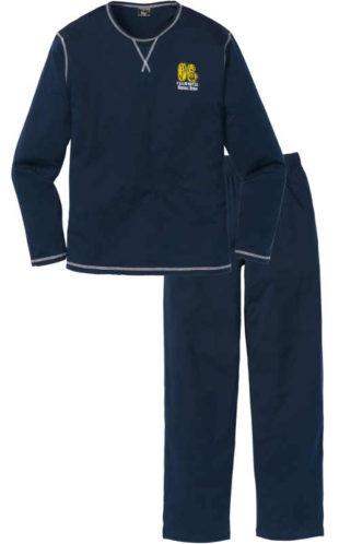 Tmavě modré pánské pyžamo s ozdobnými švy