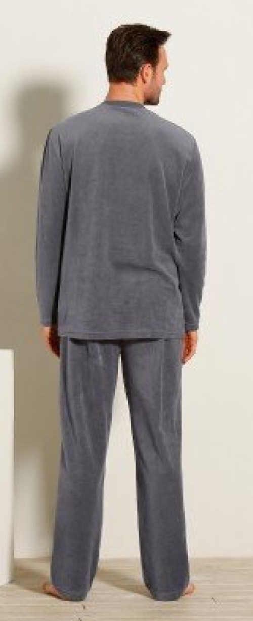 Teplé pánské bavlněné pyžamo