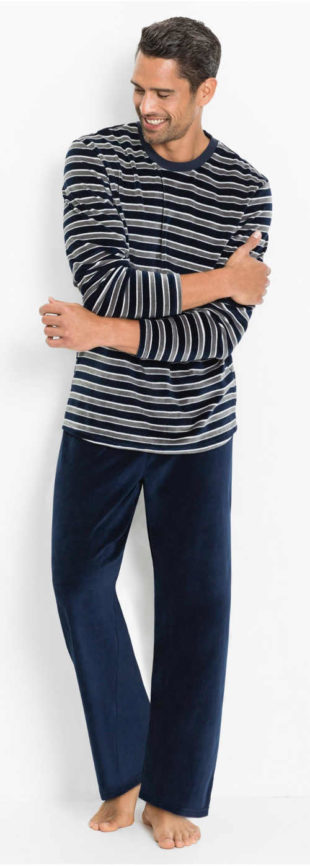 Volné a pohodlné dlouhé pánské pyžamo