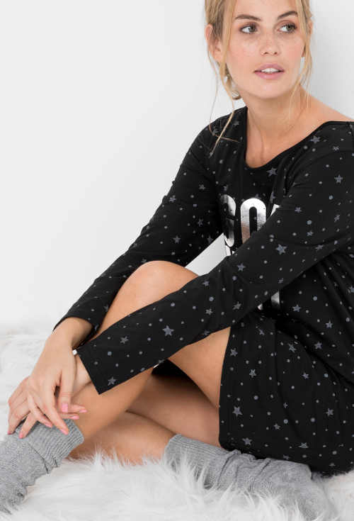 Bavlněná noční košilka Bonprix pro pohodlný spánek