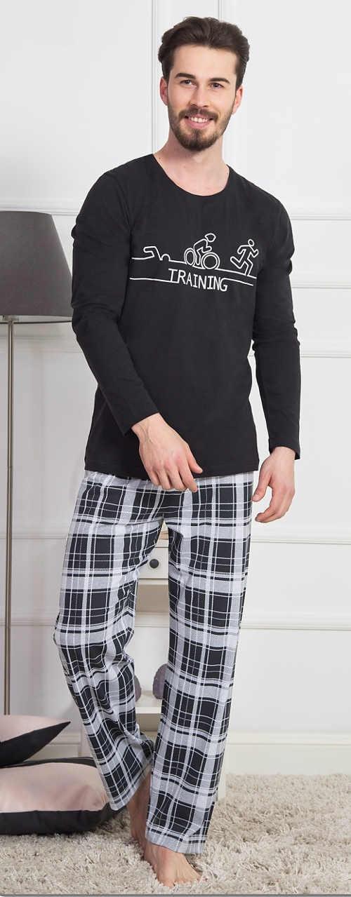 Pánské dlouhé sportovní pyžamo Training