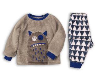 Zateplené klučičí pyžamo s příšerkou