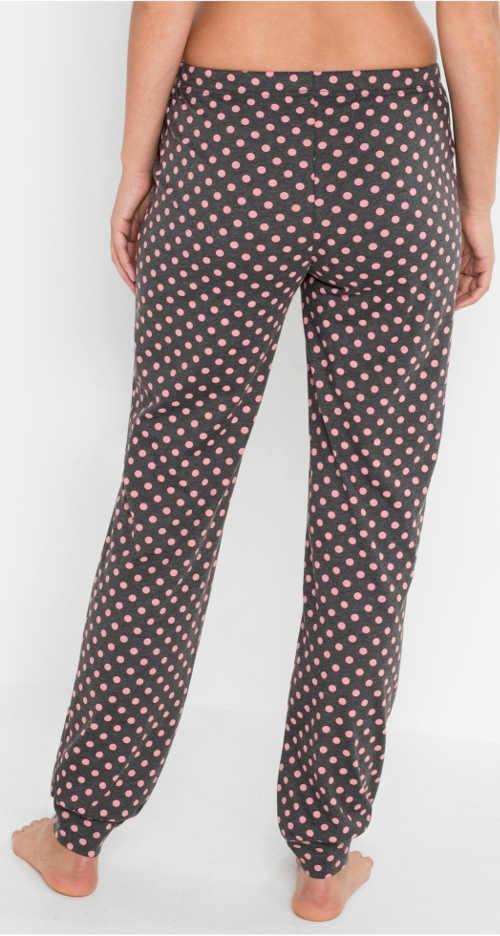 Pohodlné pyžamové kalhoty s puntíky