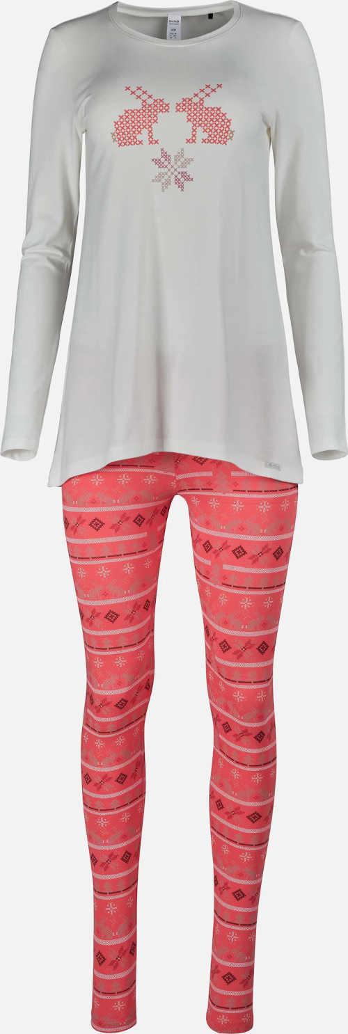 Dámské pyžamo s dlouhým rukávem a leginovým spodním dílem