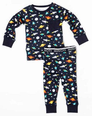 Dětské pyžamo Space s potiskem znázorňující vesmír