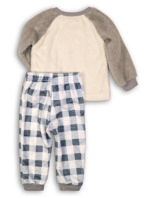 Klučičí pyžamo s teplým huňatým fleecovým horním dílem