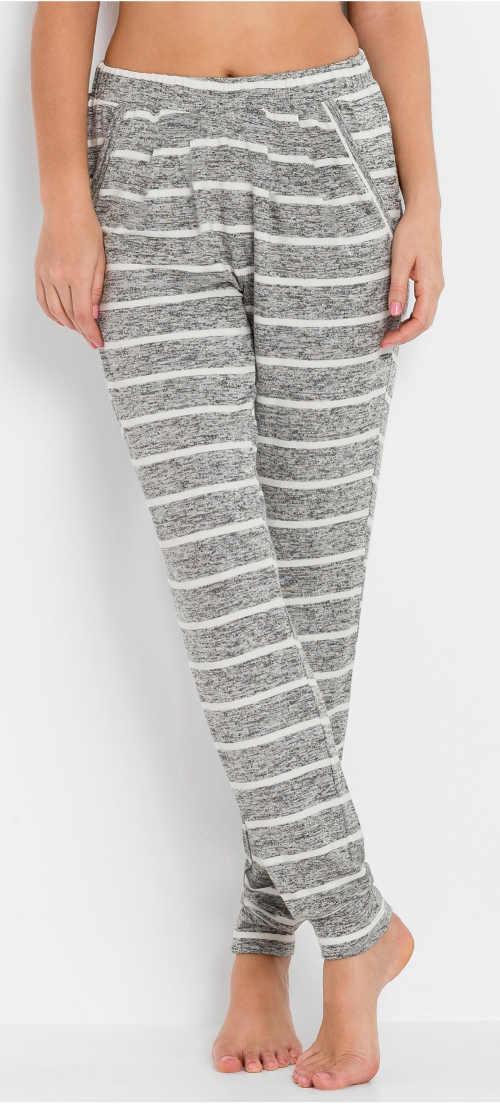 Teplé dámské zimní pyžamové kalhoty