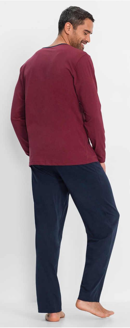 Dlouhé pánské pyžamo Bonprix