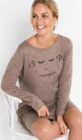 Levná noční košile s roztomilým potiskem