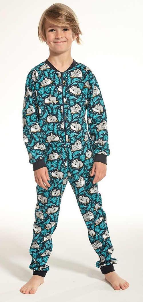 Dětské klučičí overal pyžamo na spaní