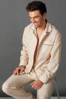 Klasické kabátkové pyžamo pro pány