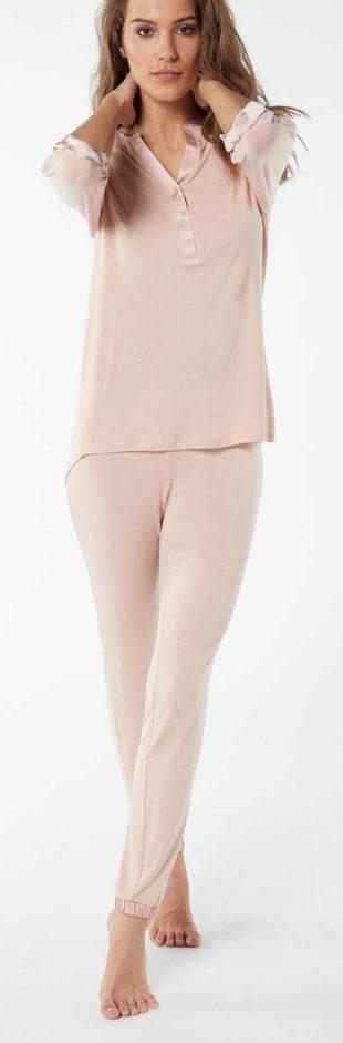 Dlouhé dámské pyžamo Intimissimi z bambusové viskozy