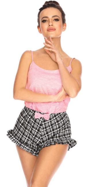 Rozkošné letní pyžamo s volánky na kraťasech