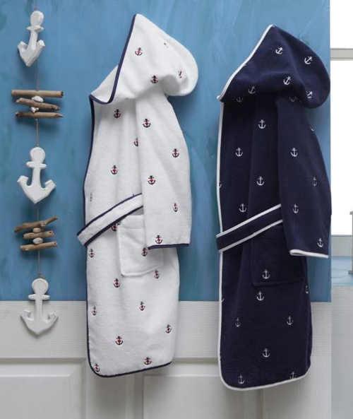 Dětské župany v námořnickém provedení
