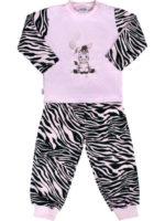 Dětské zebrované pyžámko s roztomilým obrázkem zebry