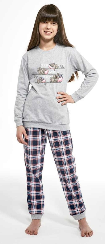 Krásné dívčí pyžamo s dlouhým rukávem s roztomilým potiskem