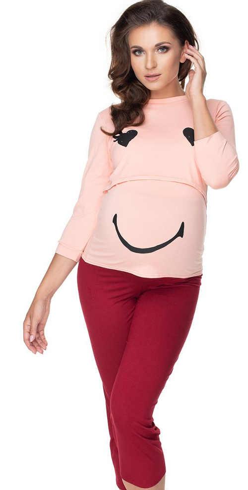 Rozkošné těhotenské pyžamo v moderním a příjemném střihu