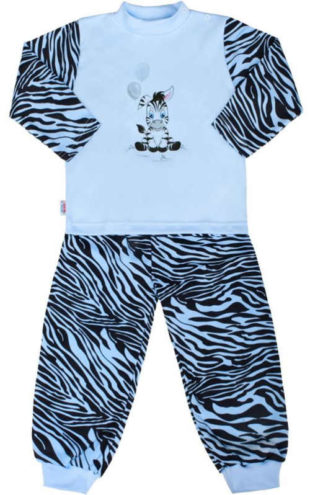 Dětské bavlněné pyžamo New Baby Zebra s balónkem