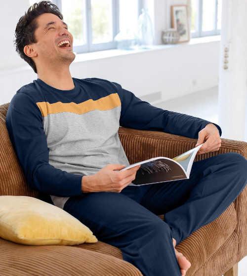 jednobarevné pyžamové kalhoty dlouhé
