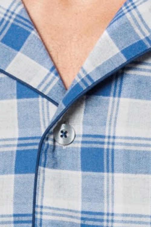moderní pyžamo dlouhý rukáv na knoflíky