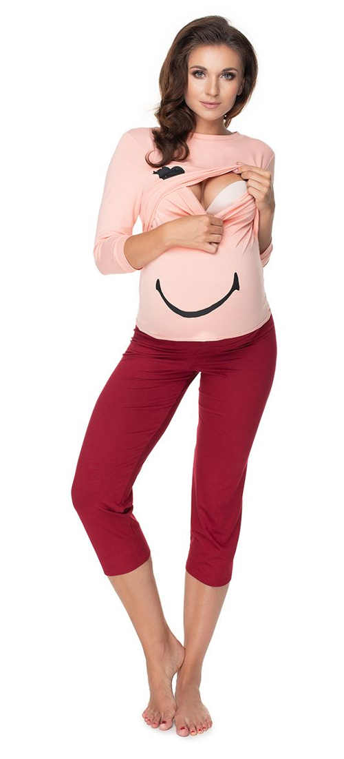moderní pyžamo pro těhotné a kojící ženy