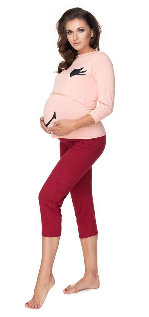 praktické těhotenské pyžamo v působivém provedení