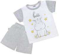 Roztomilé dětské letní pyžamko s hrošíkem