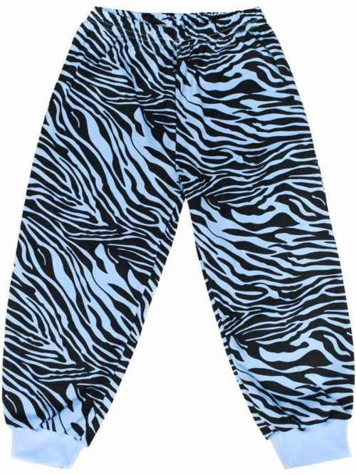 Zebrované dětské pyžamové kalhoty