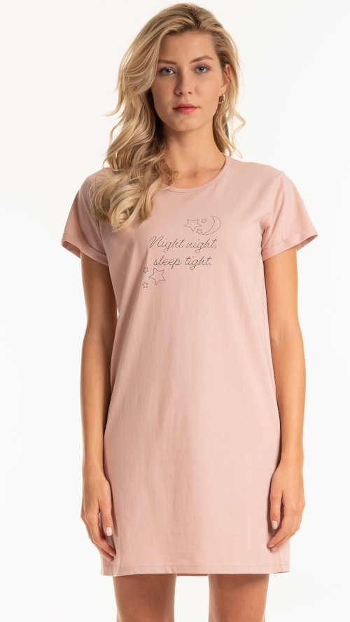 Dámská krátká bavlněná košile s potiskem a nápisem