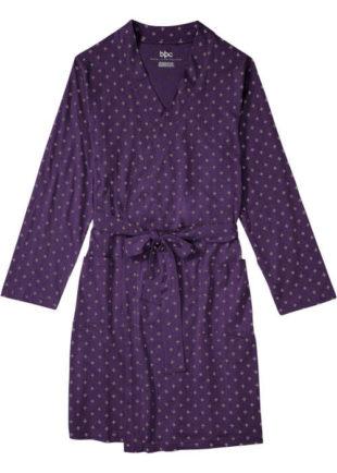 Dámský jemný župan z kvalitní látky v kimono provedení