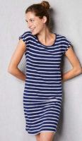 Pohodlná dámská noční košile v námořnickém stylu