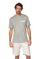 Stylové pánské pyžamo s krátkým rukávem a nohavicemi