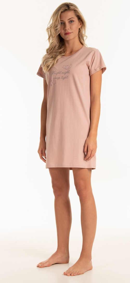 růžová dámská noční košile