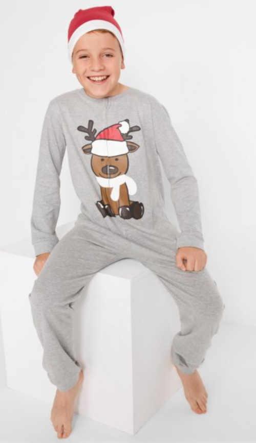 vánoční overal na spaní s čepicí