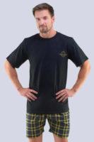 Pánské moderní pyžamo s krátkým rukávem a nohavicemi