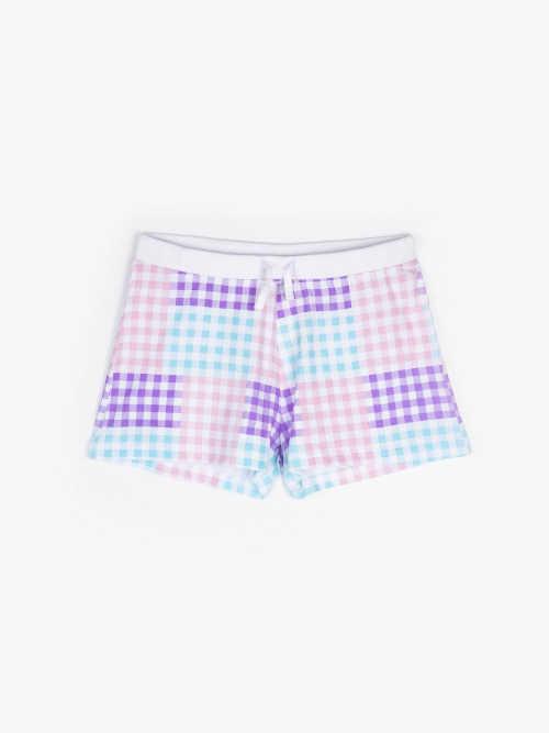 barevné bavlněné pyžamové šortky