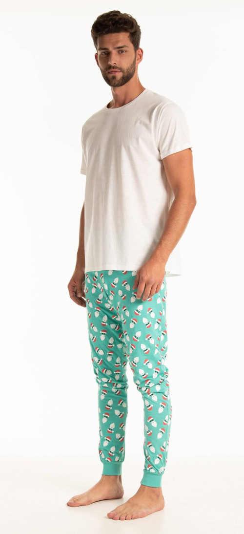 bavlněné pánské zelené kalhoty
