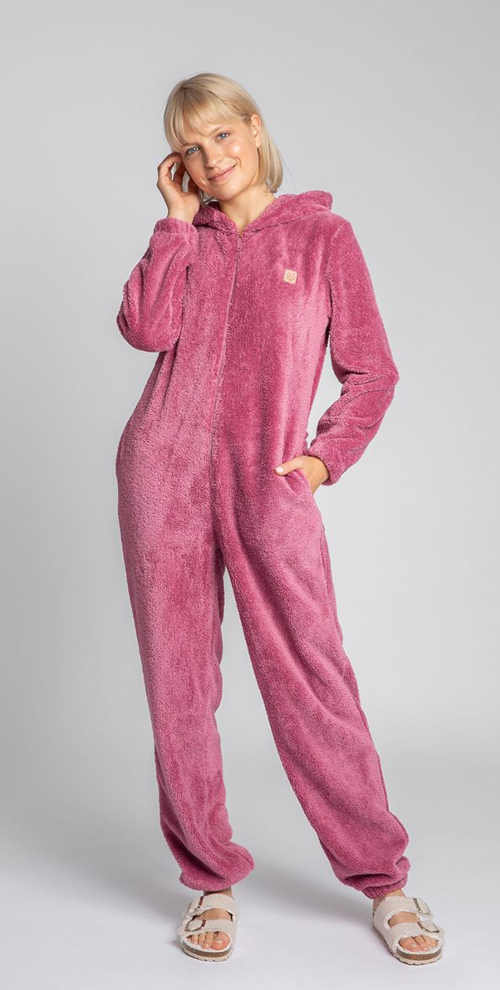 dámský hřejivý pyžamový overal