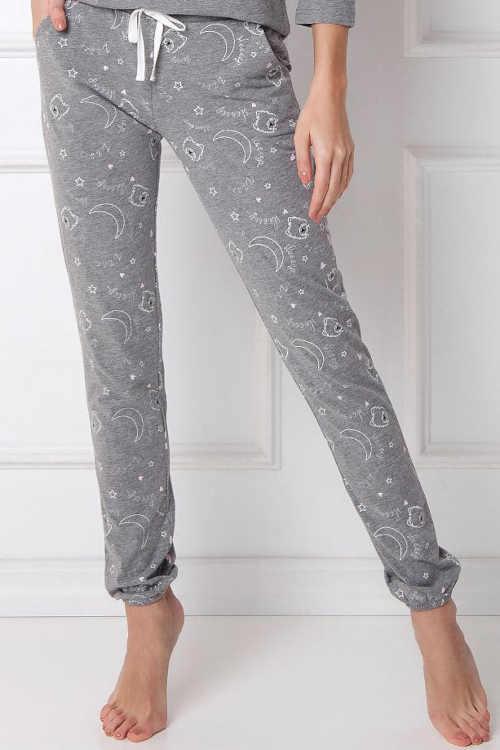 dlouhé pyžamo šedé s obrázkem