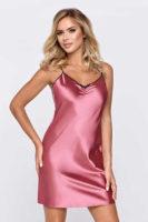 luxusní saténová růžová košilka